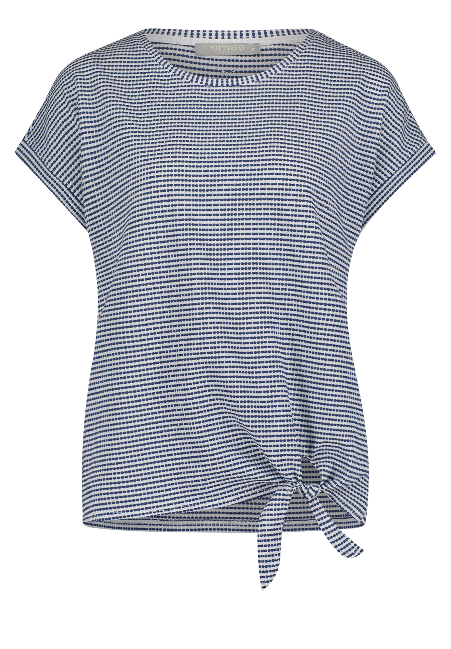 Betty & Co. kurzarm Shirt gemustert blau