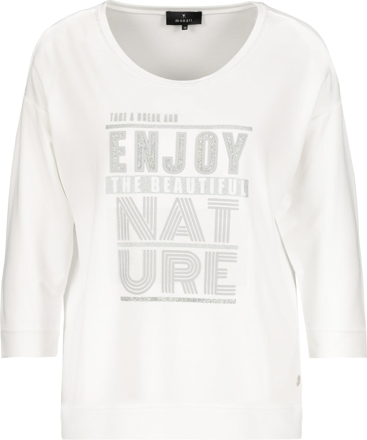 Monari Sweatshirt mit Aufdruck weiß