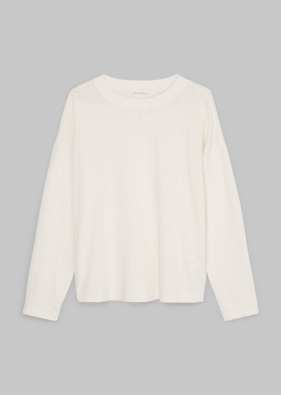 Marc O' Polo langarm Shirt aus Baumwolle weiß