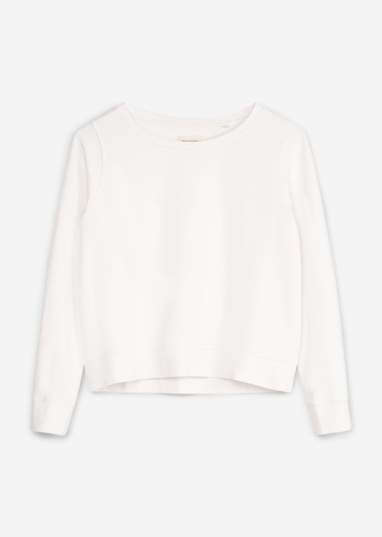 Marc O' Polo Sweatshirt aus Baumwolle weiß