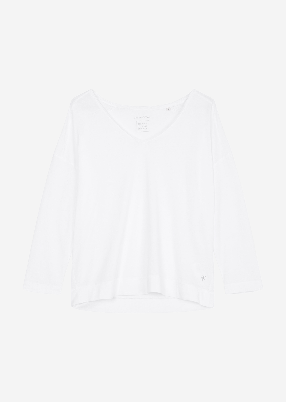 Marc O' Polo langarm Oversize-Shirt aus Baumwolle weiß