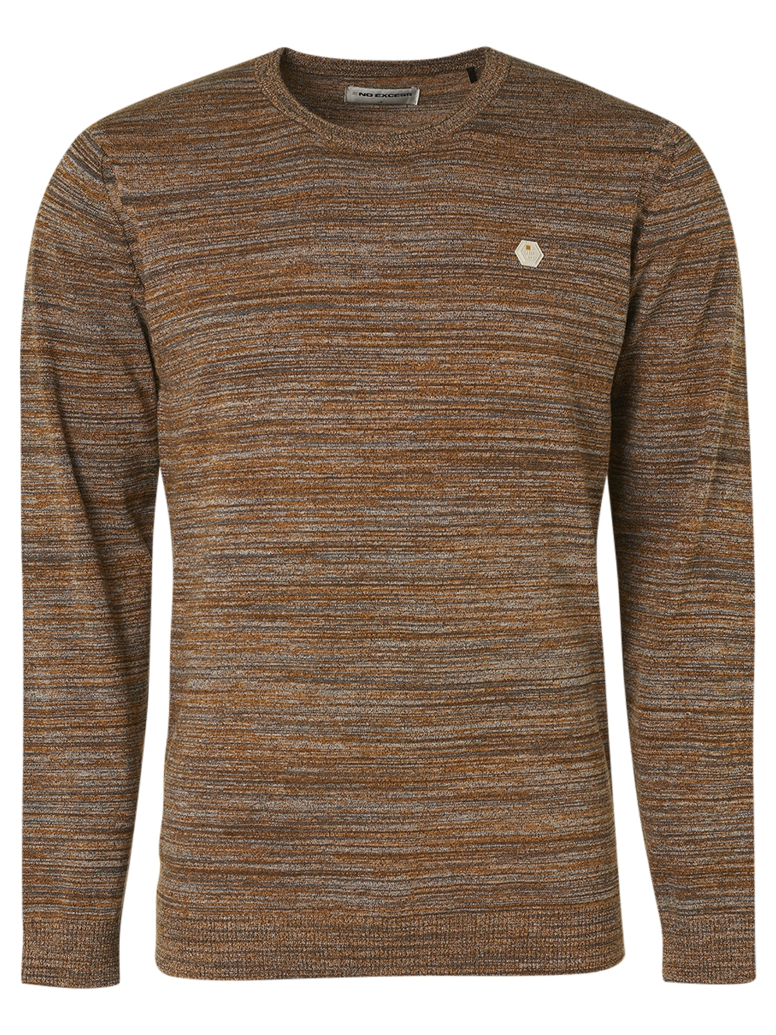 No Excess Pullover Crewneck Multi Colour Melange