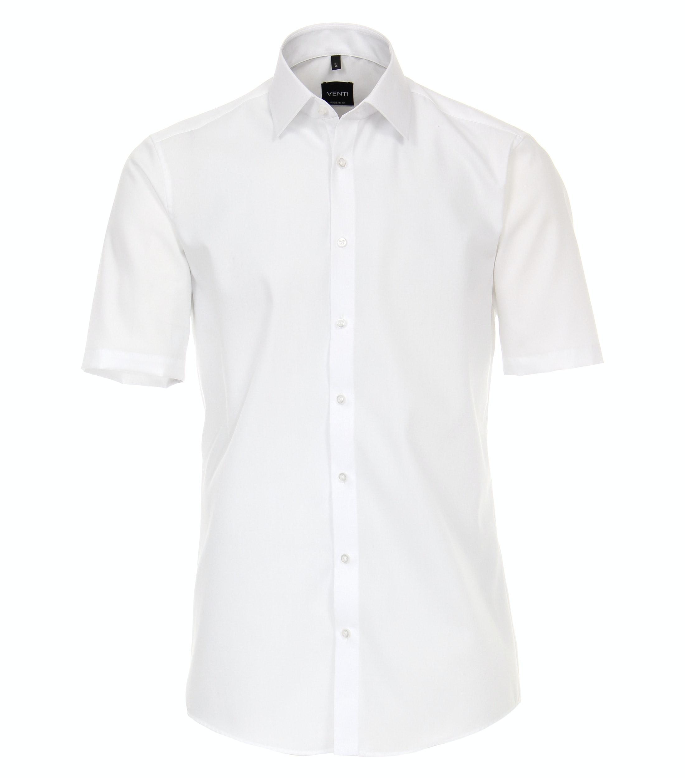 VENTI kurzarm Businesshemd aus Baumwolle, weiß
