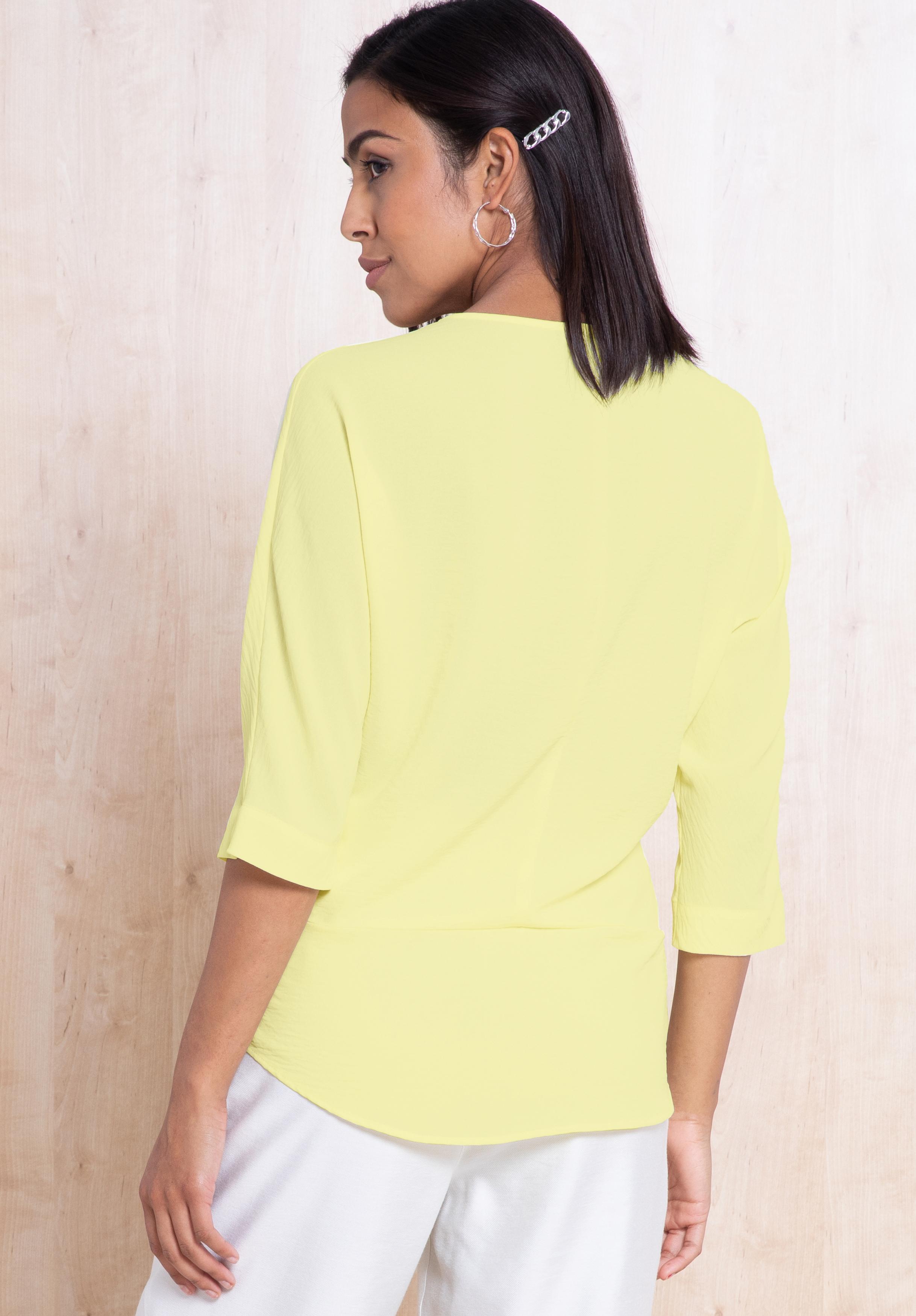 Bianca 3/4-Arm Shirt gelb