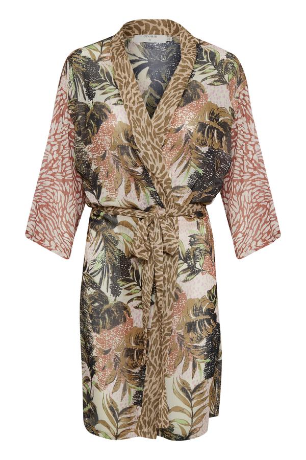 Cream Kimono mit verschiedenen Mustern mehrfarbig
