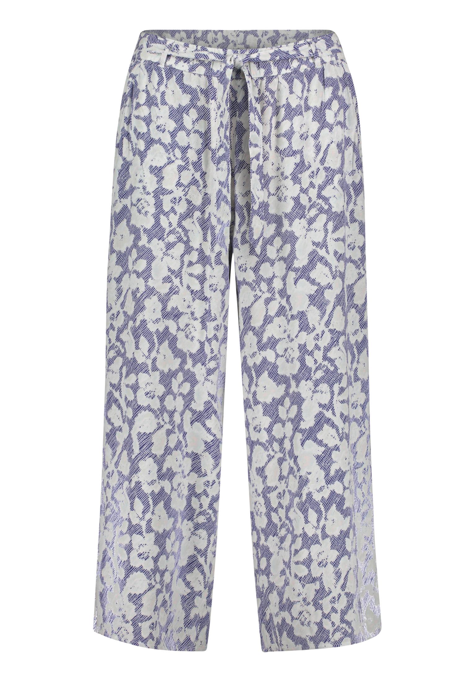 Betty & Co. Schlupfhose mit floralem Muster blau