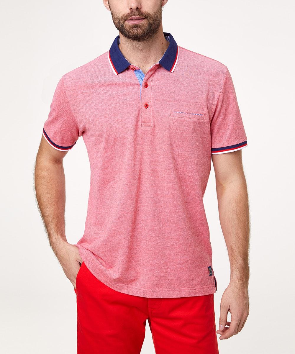 Pierre Cardin Poloshirt aus Baumwolle rot