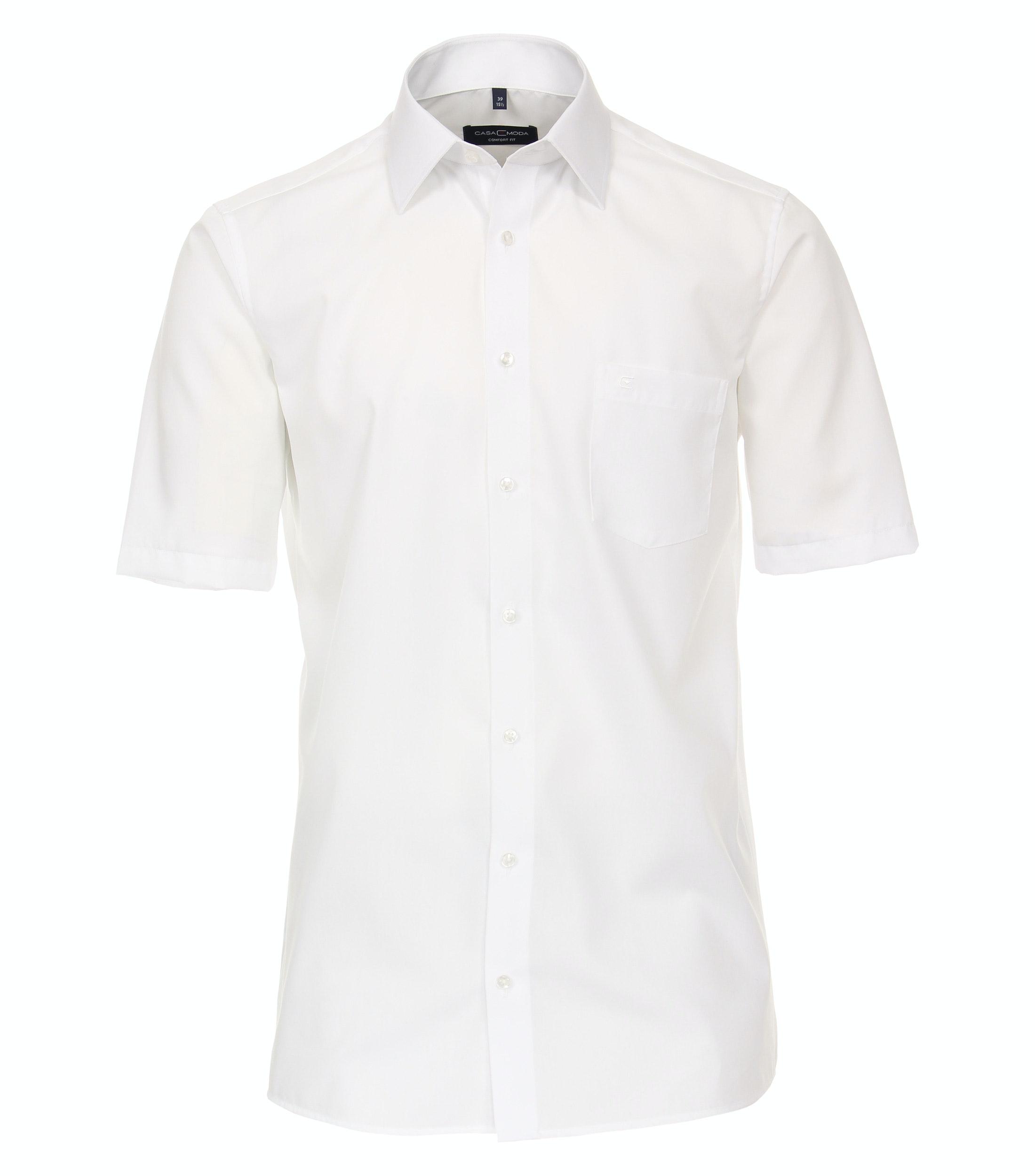 CasaModa kurzarm Businesshemd aus Baumwolle, weiß