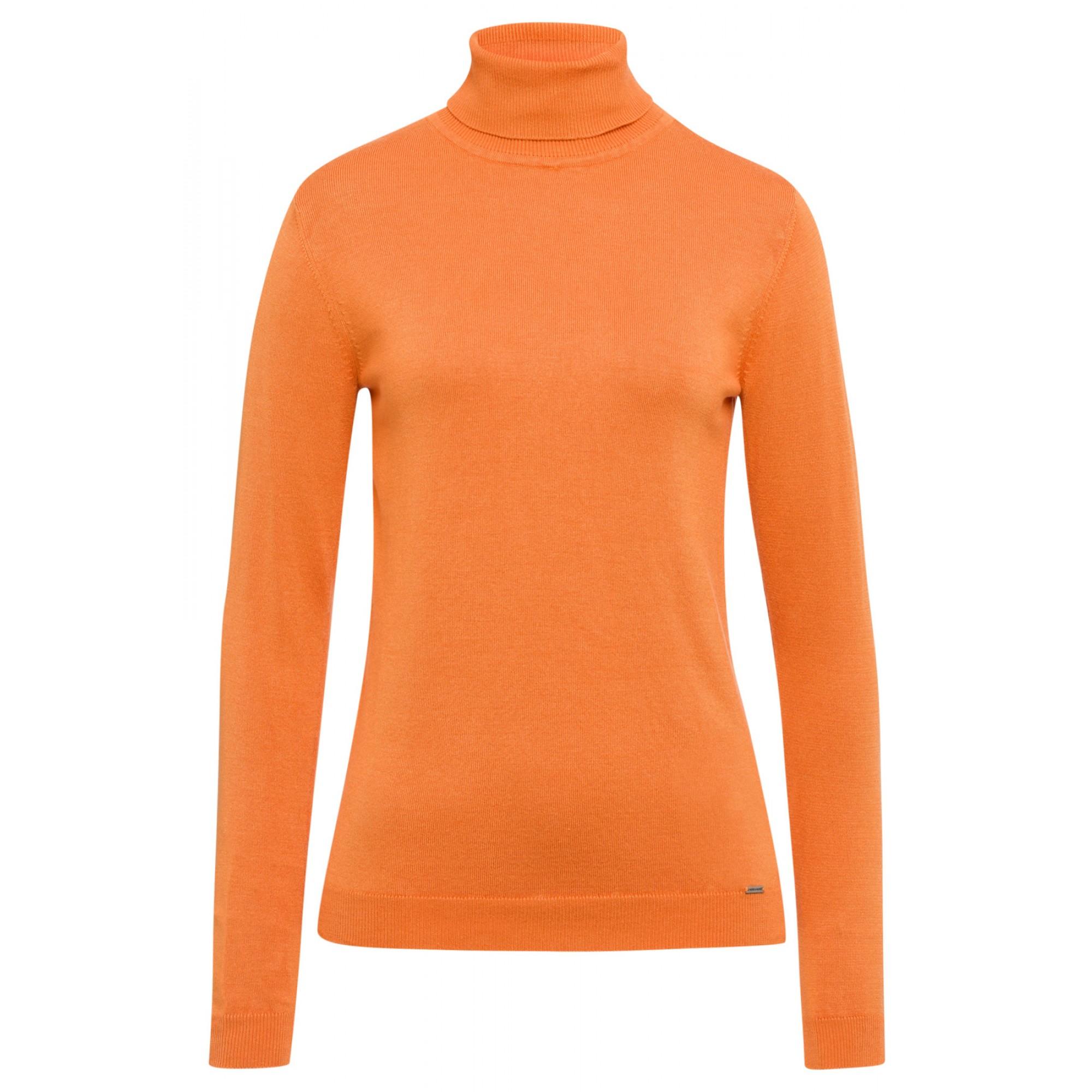 More & More Rollkragenpullover orange
