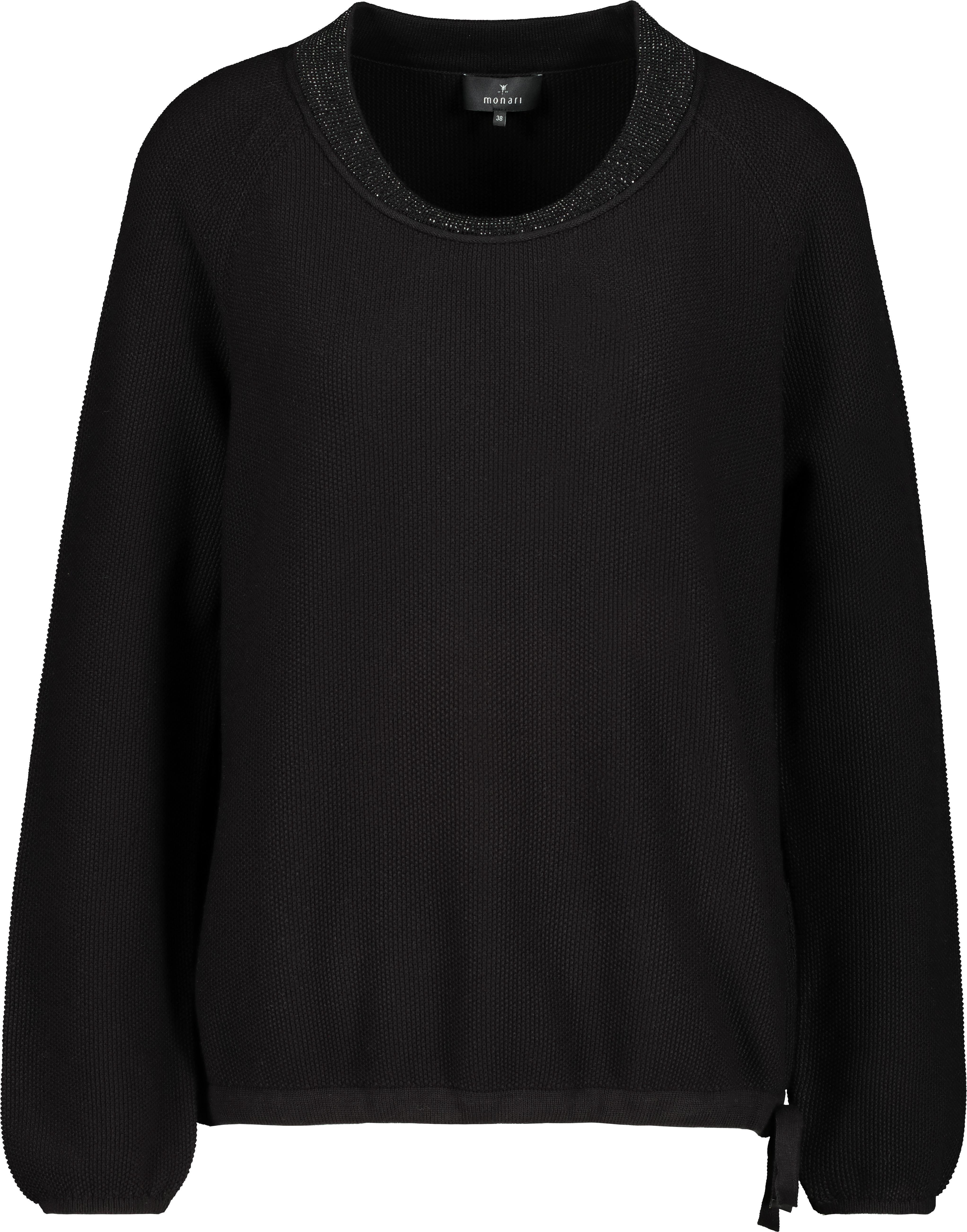 Monari Pullover aus Baumwolle schwarz