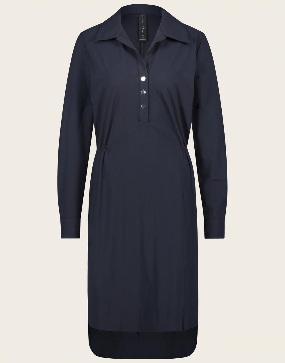 Jane Lushka langarm Kleid mittellang blau