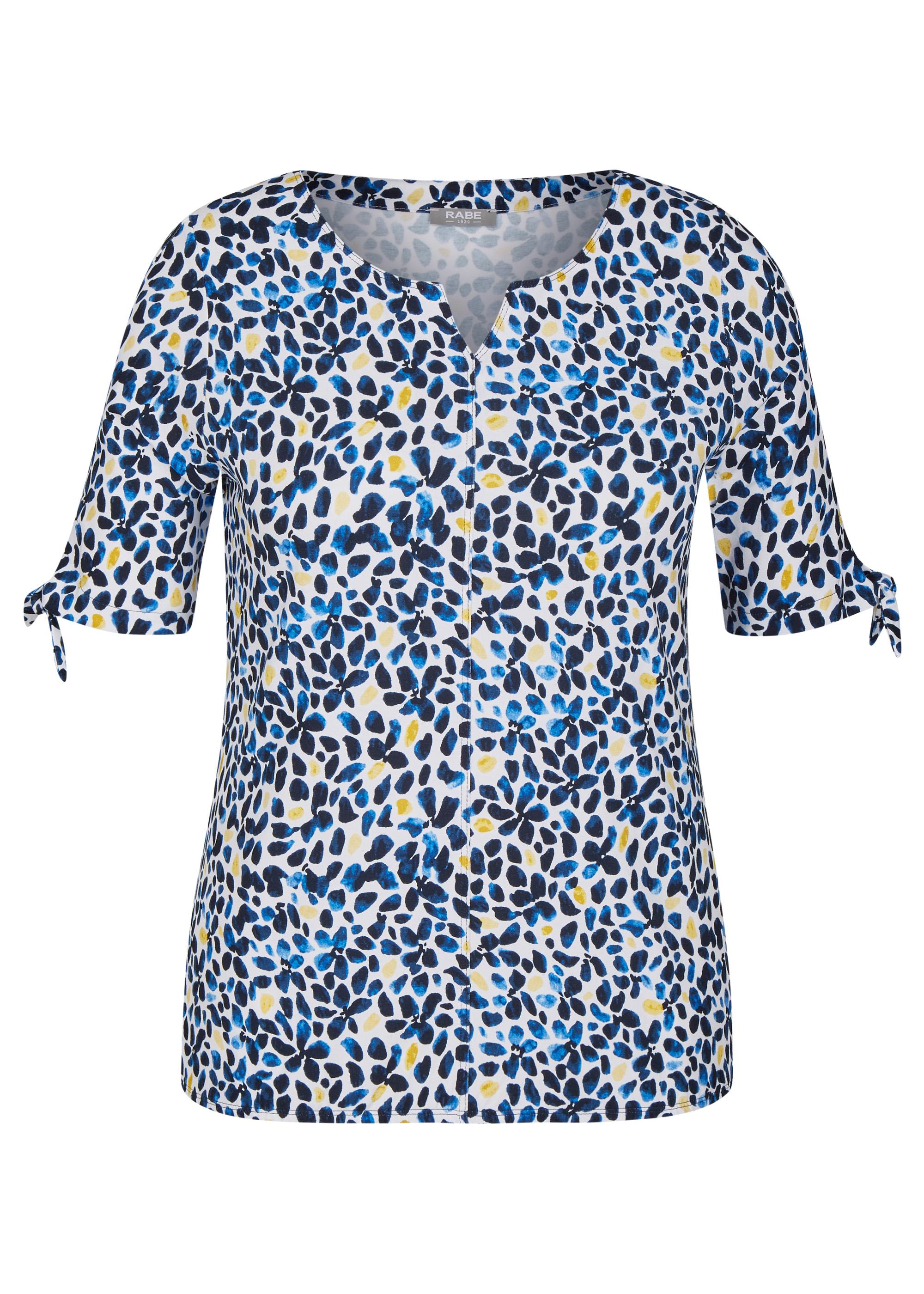 Rabe halbarm Shirt gemustert blau