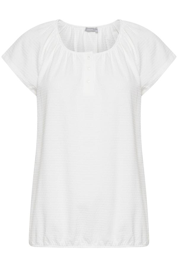 Fransa kurzarm Shirt aus Baumwolle weiß