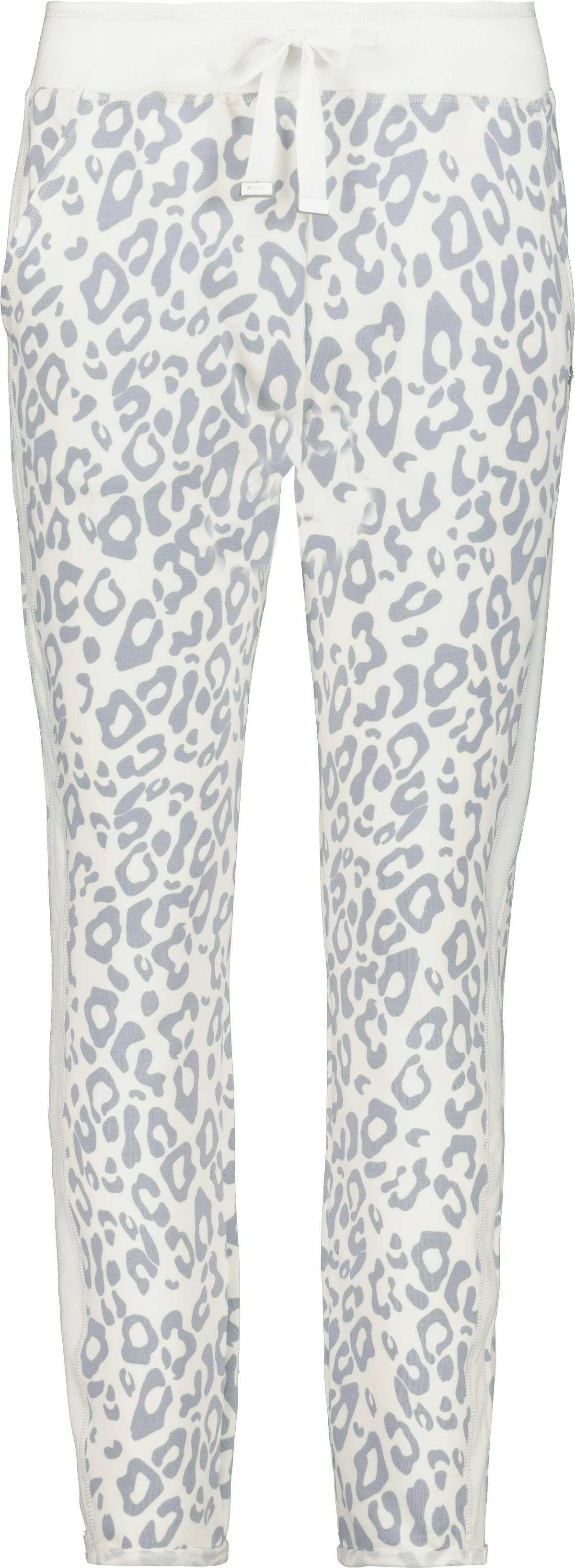 Monari Joggerhose mit Leopardenmuster grau