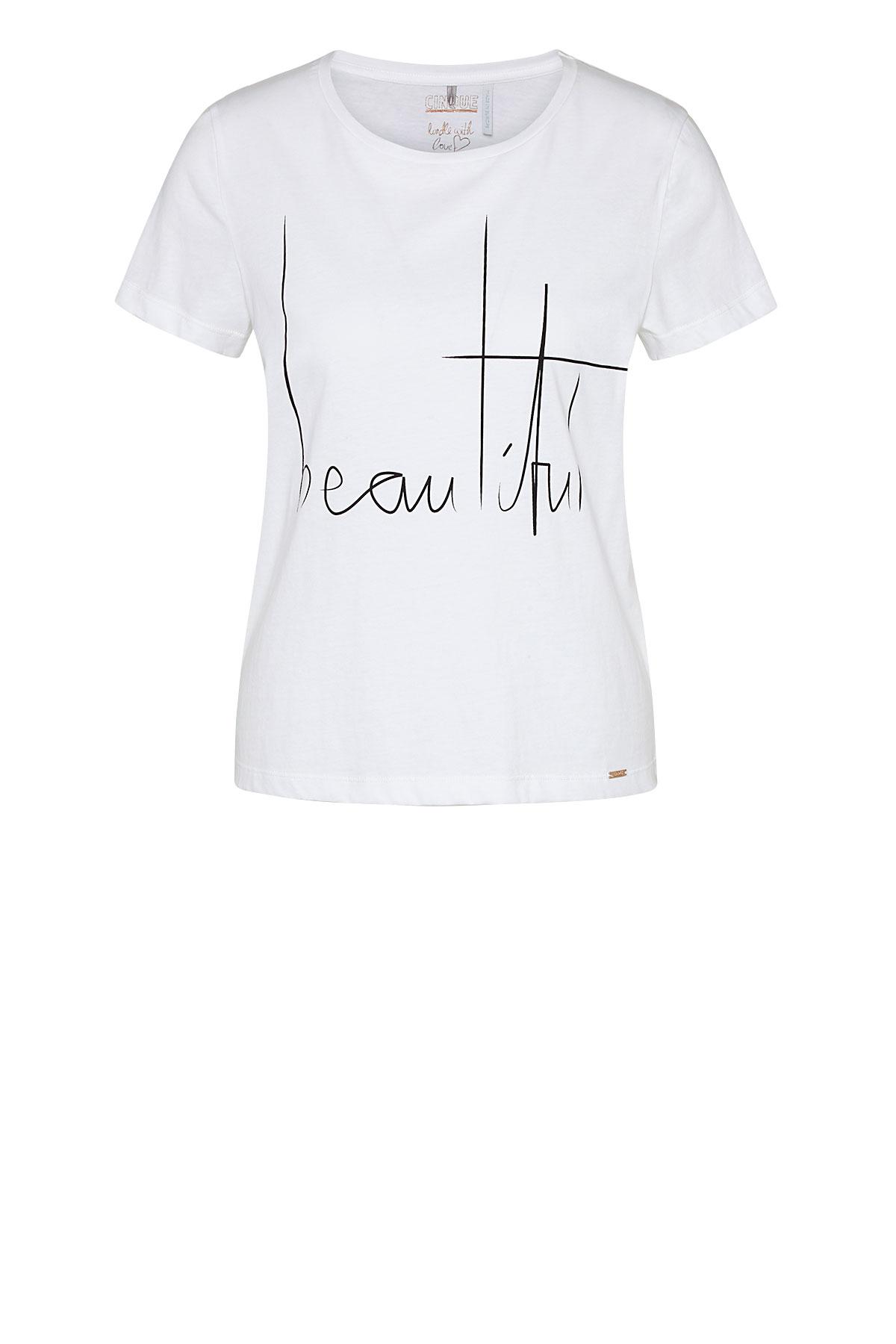 Cinque kurzarm Shirt aus Baumwolle mit Aufschrift