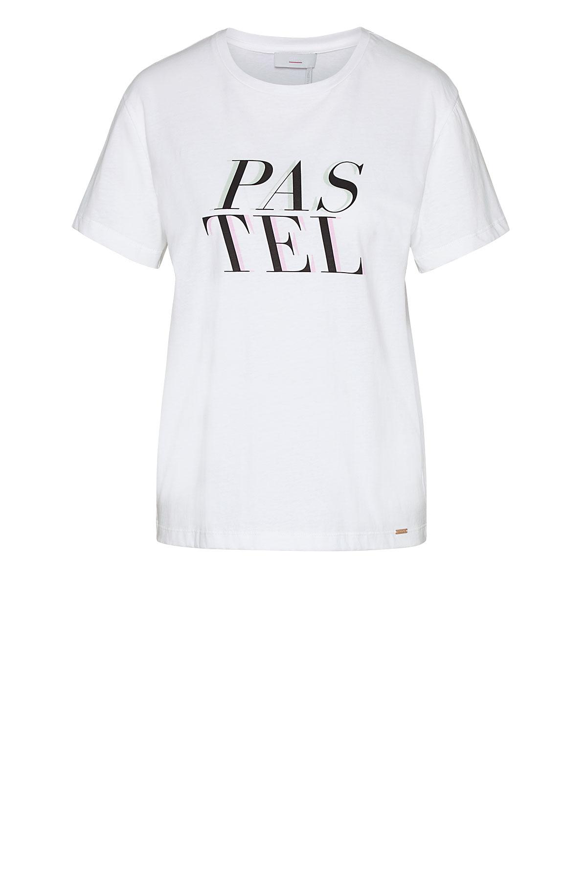 Cinque kurzarm Shirt aus Baumwolle mit Aufdruck weiß