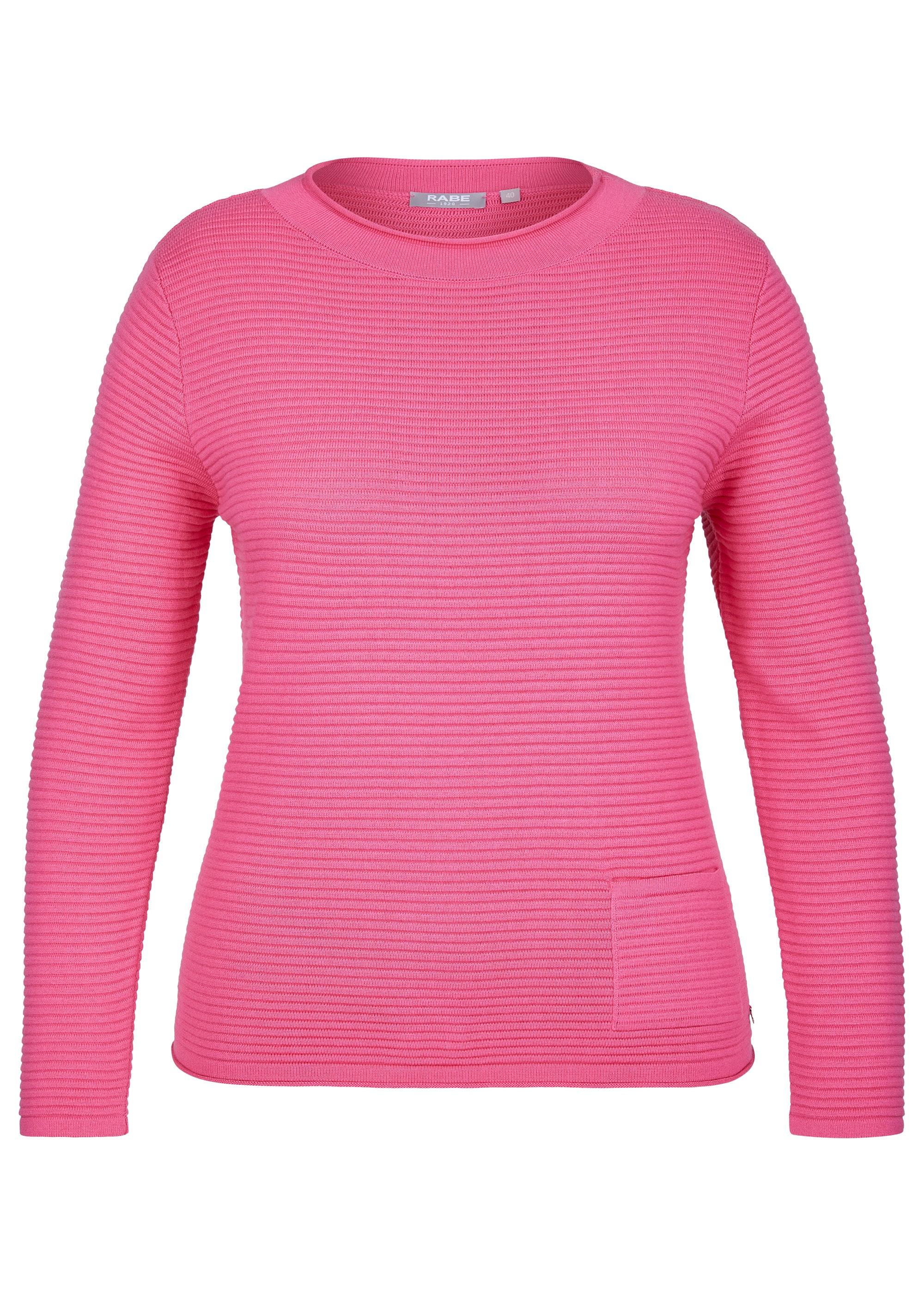 Rabe Pullover mit Eingrifftasche pink