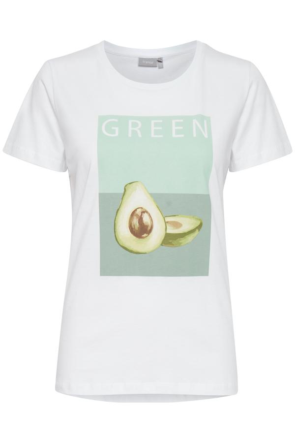 Fransa kurzarm Shirt aus Baumwolle mit Aufdruck grün