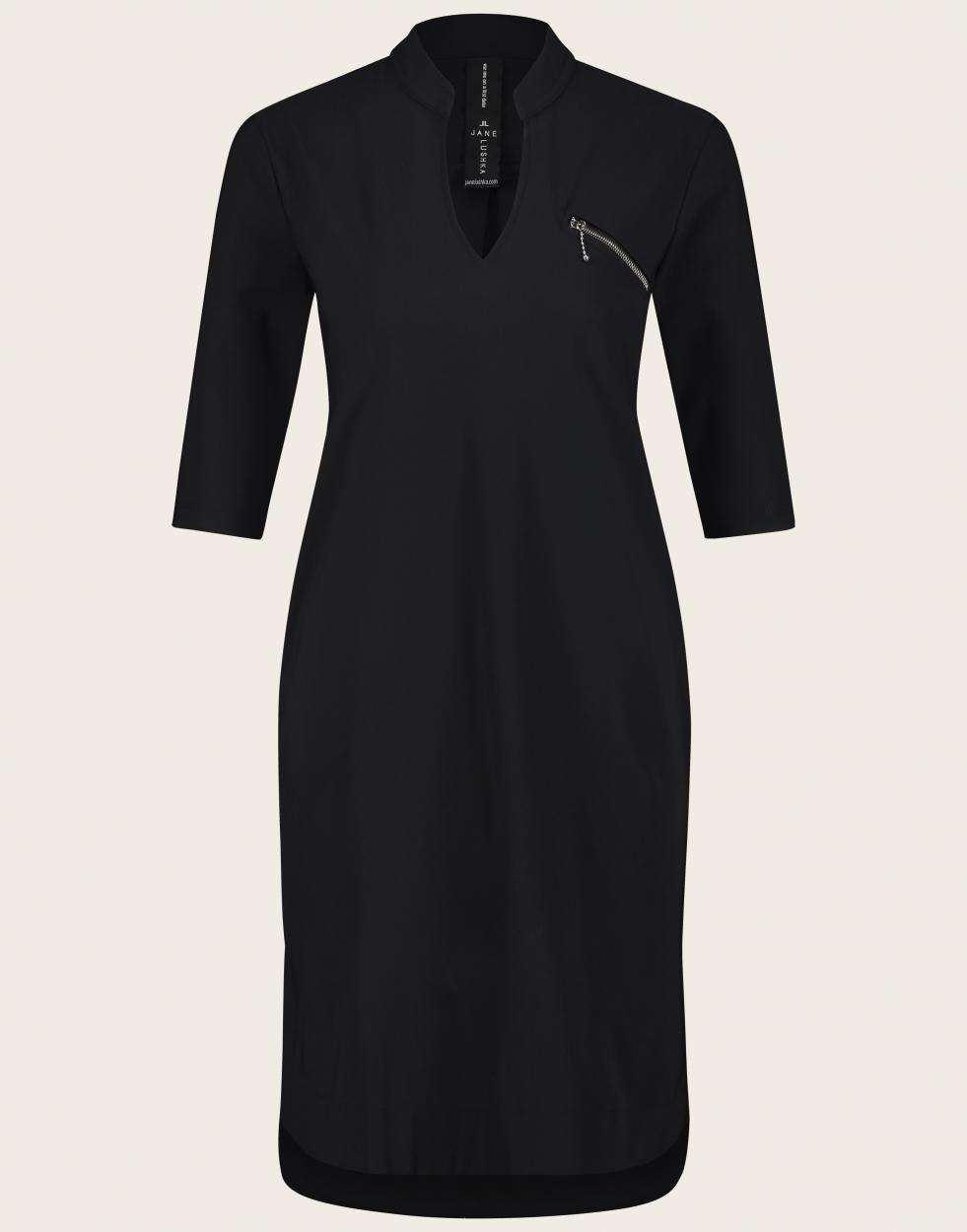 Jane Lushka Kleid mittellang schwarz