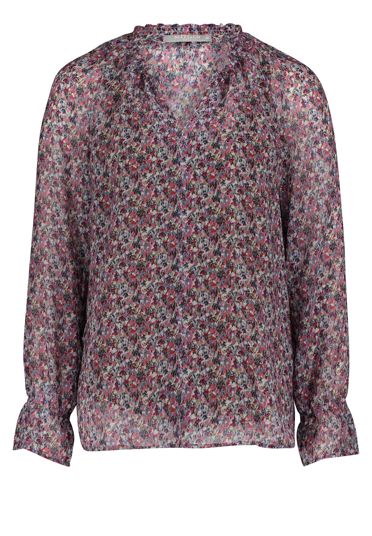 Betty & Co. Chiffonbluse floral gemustert cream/pink