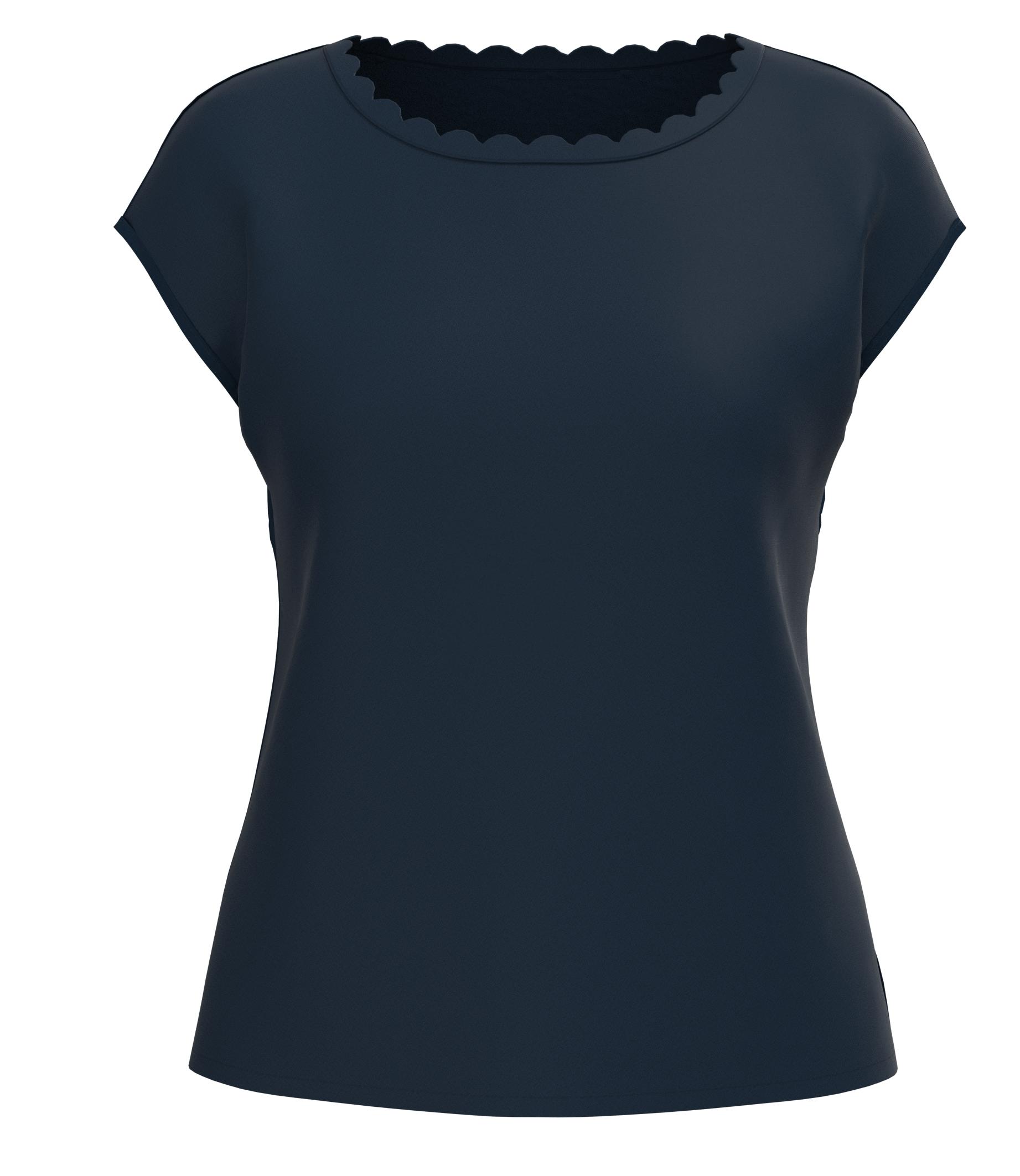 Barbara Lebek kurzarm Shirt blau