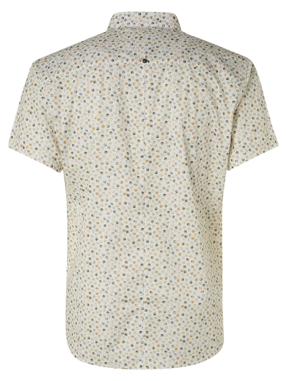 No Excess kurzarm Shirt gemustert gelb