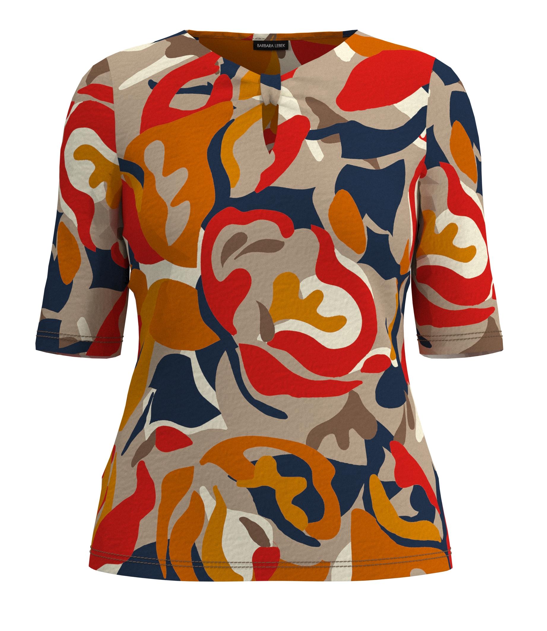 Barbara Lebek 7/8-Arm Shirt gemustert blau