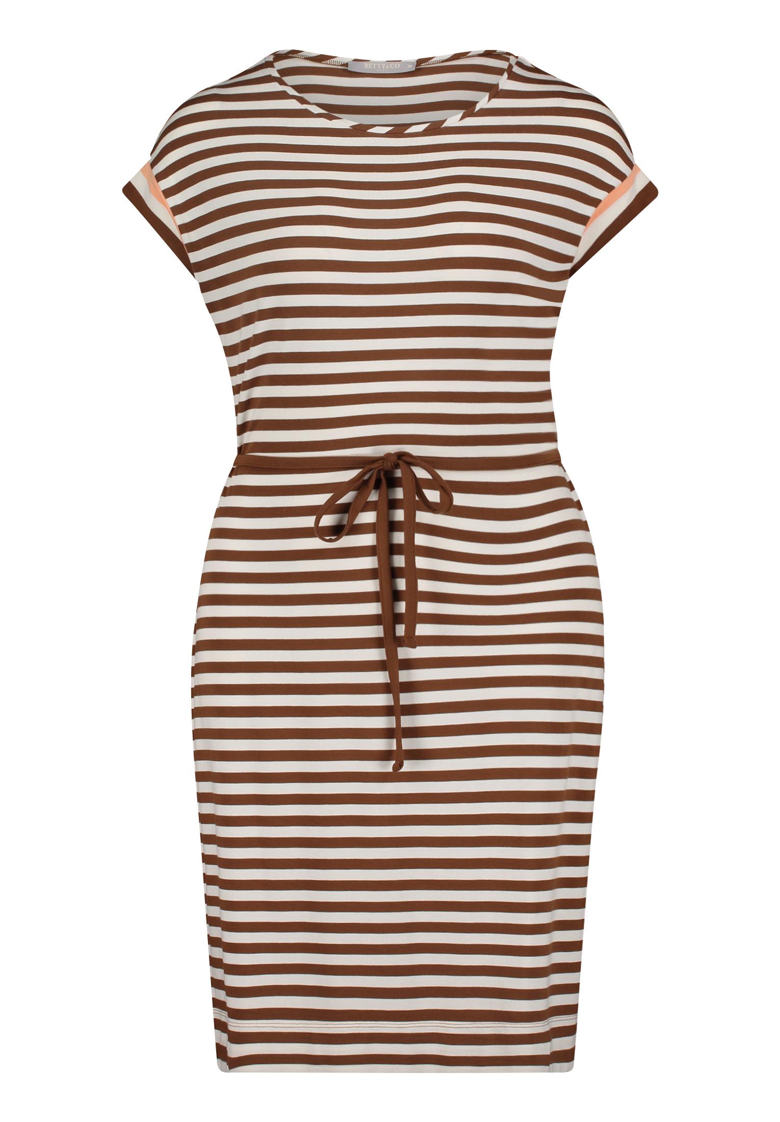 Betty & Co. Kleid mittellang braun gestreift