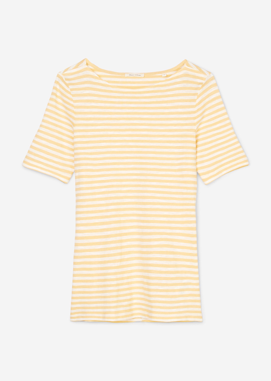 Marc O' Polo halbarm Shirt aus Baumwolle gelb