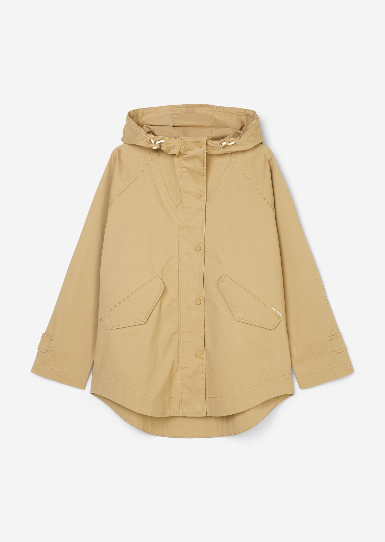 Marc O' Polo Kapuzenjacke im Cape-Stil beige