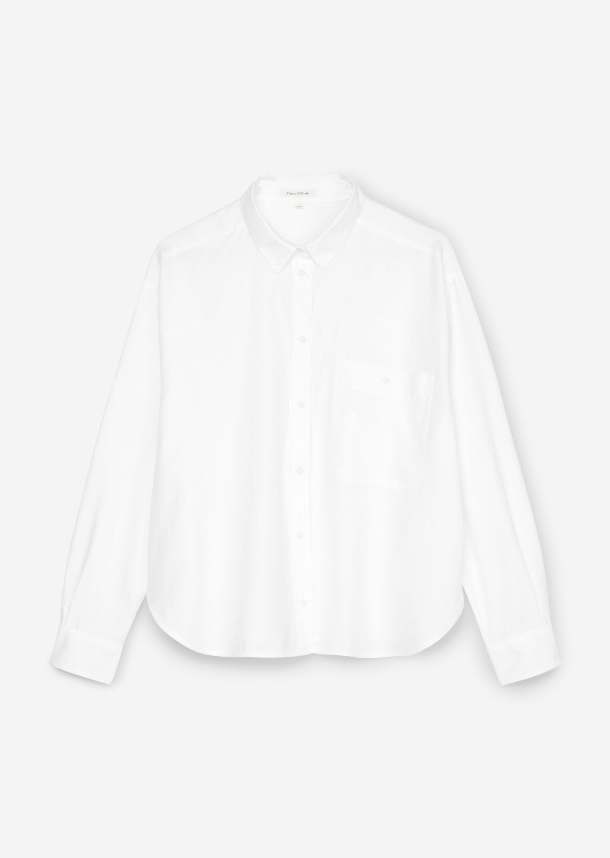 Marc O' Polo Bluse aus Baumwolle weiß