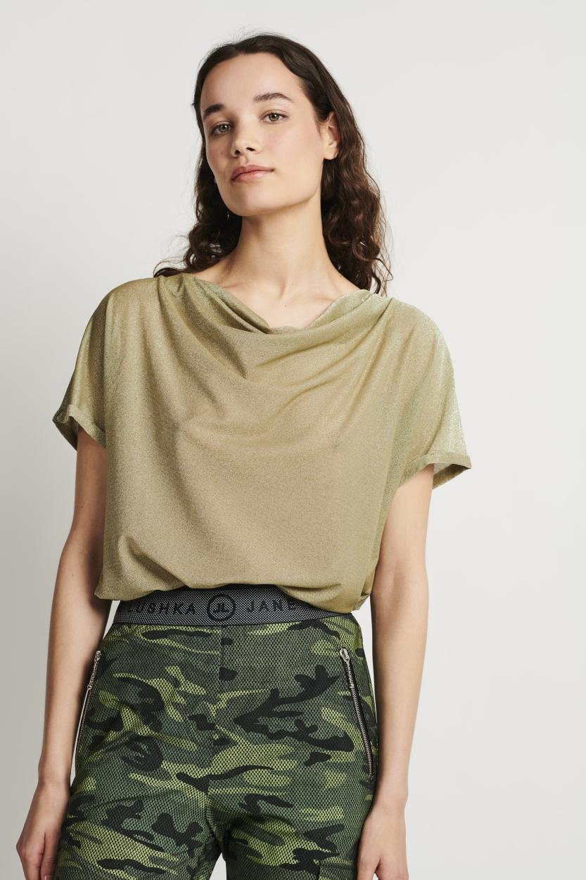 Jane Lushka halbarm Shirt grün
