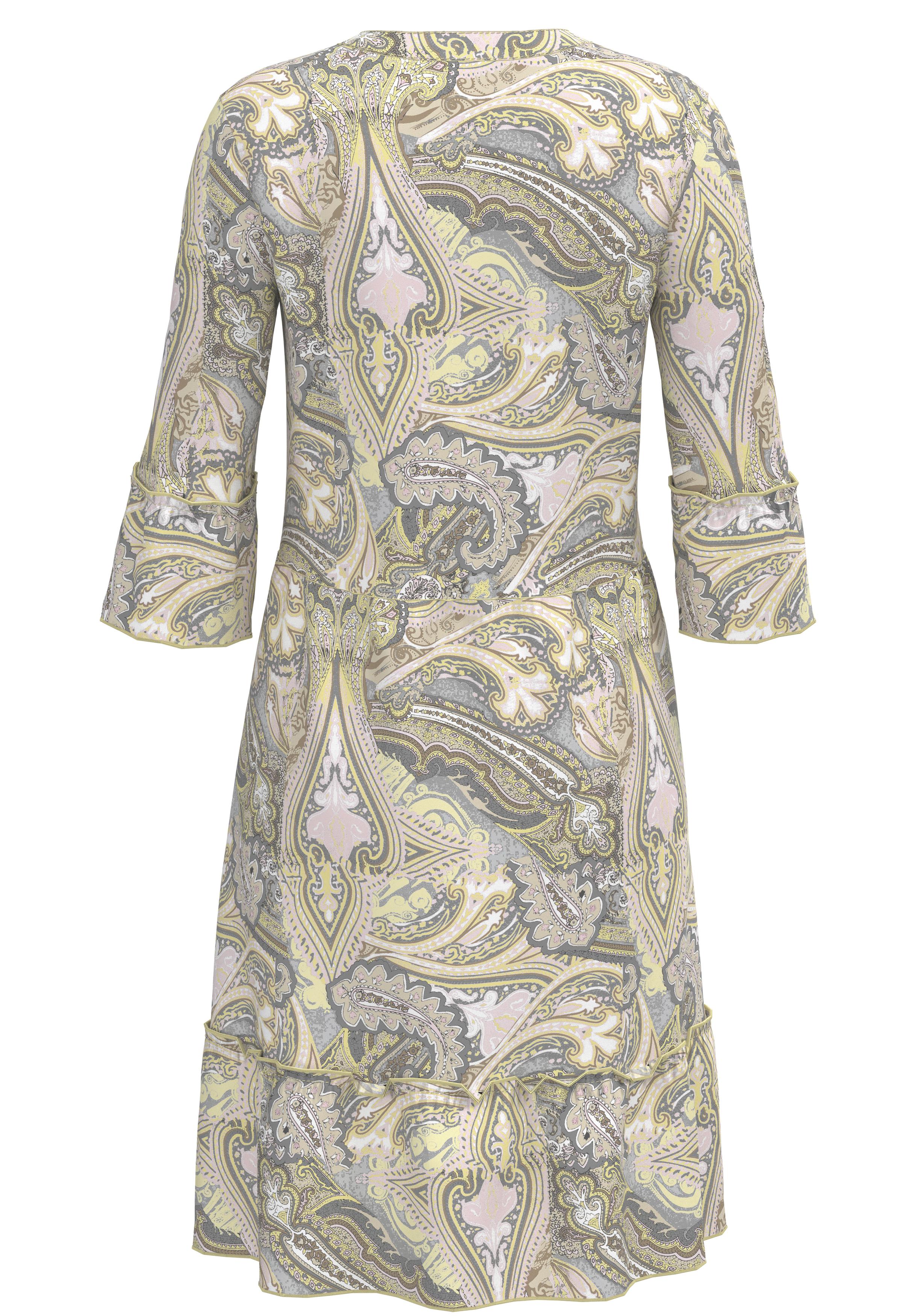 Bianca Kleid mittellang gemustert gelb