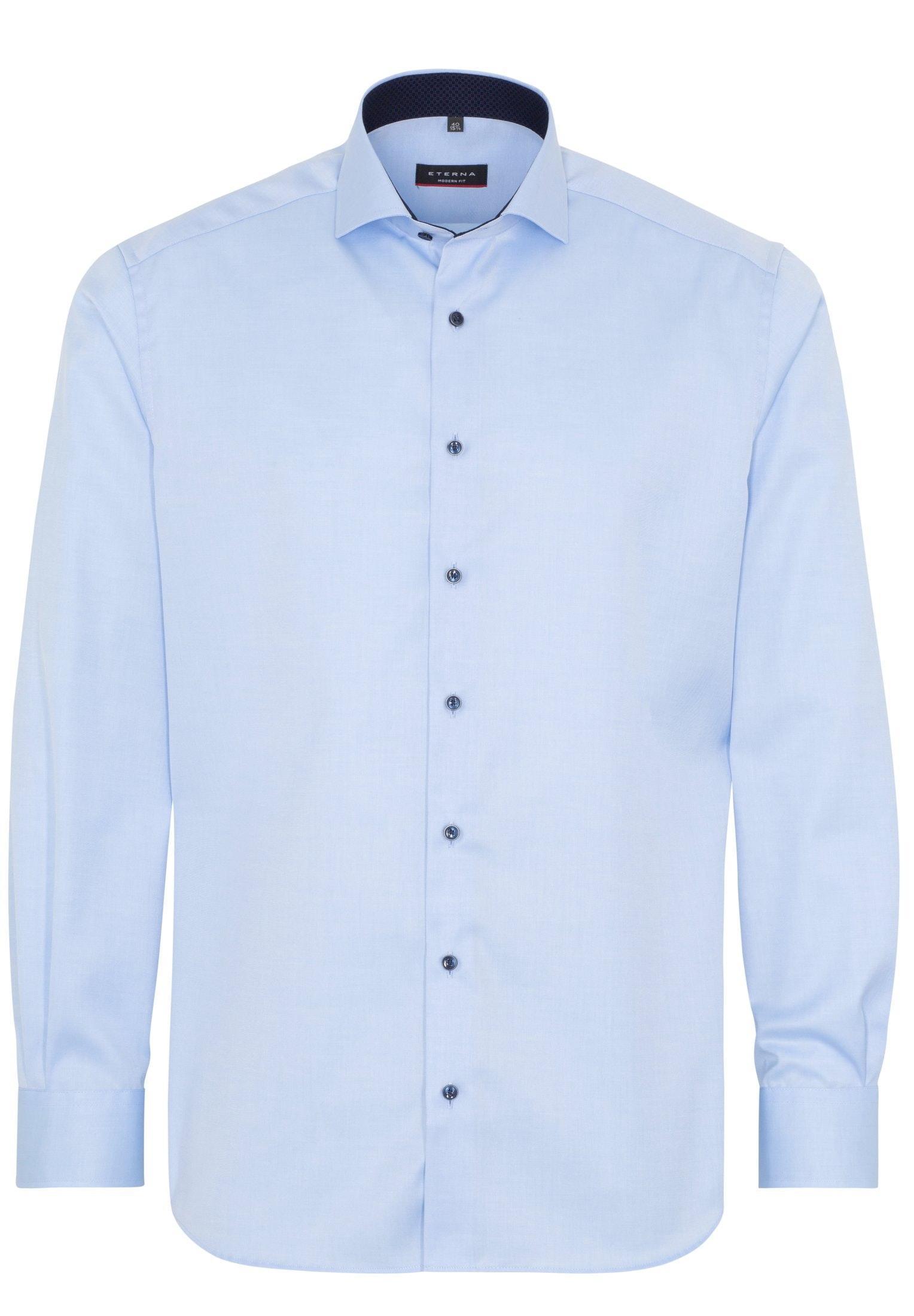Eterna langarm Hemd Cover modern
