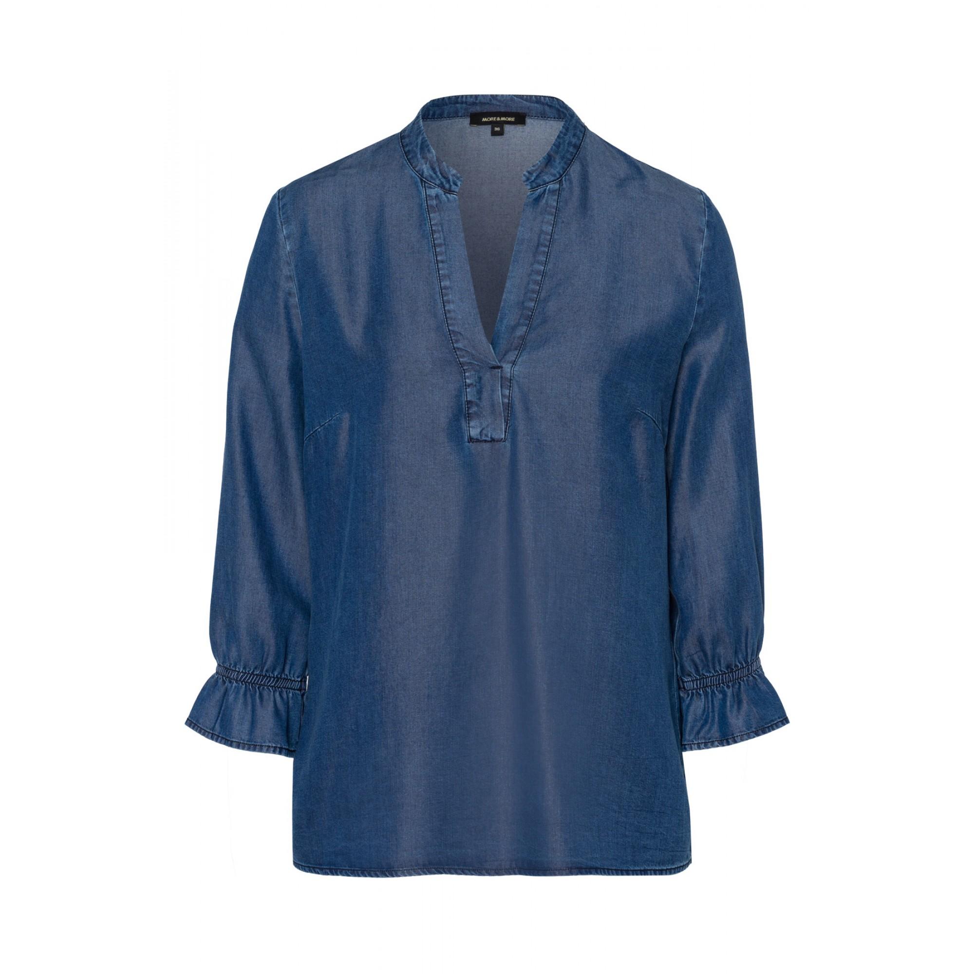 More & More Lyocell Tunika blau