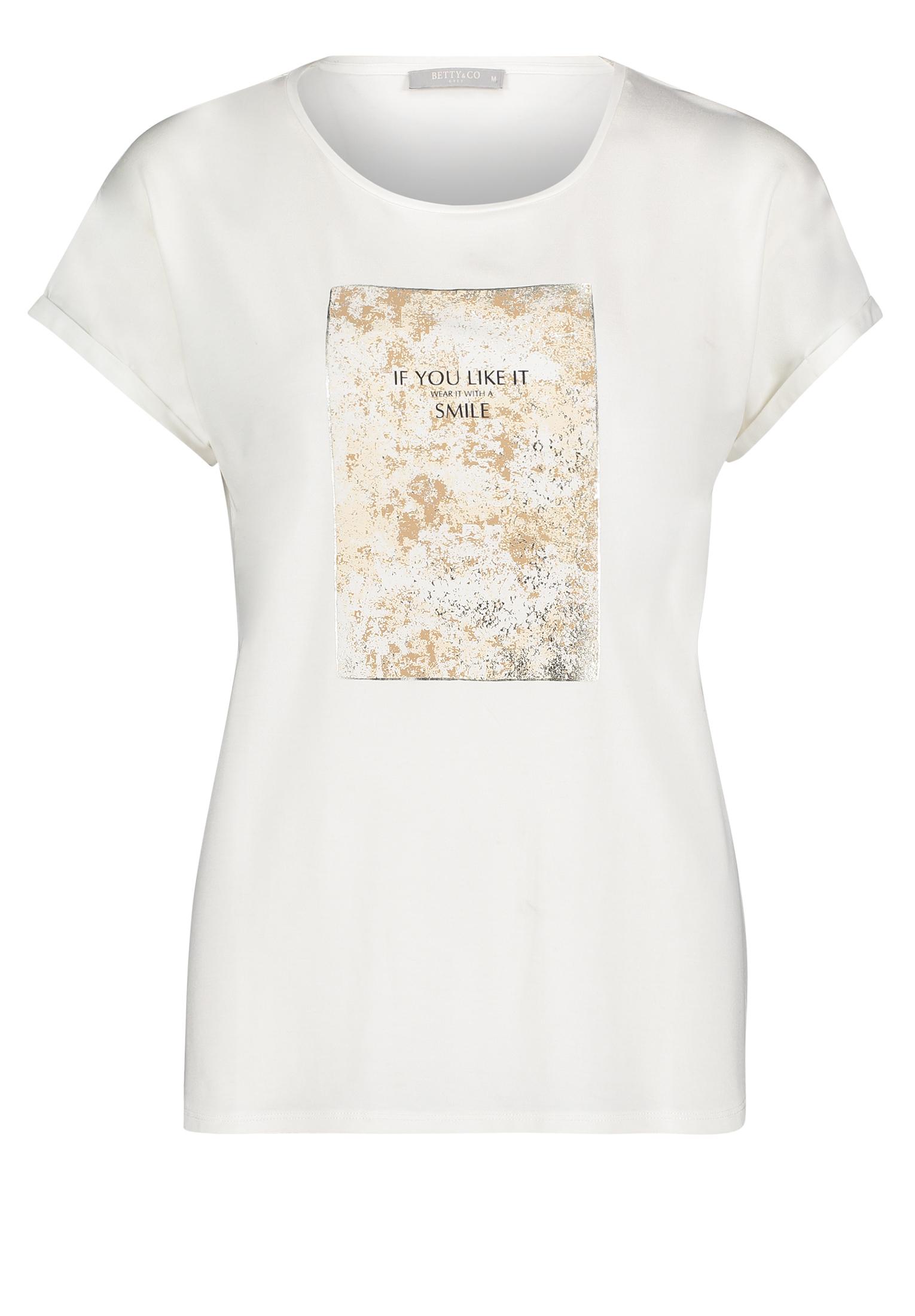 Betty & Co. T-Shirt mit Aufdruck weiß
