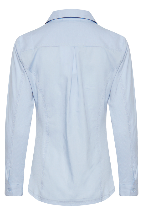 Fransa Bluse aus Baumwolle blau