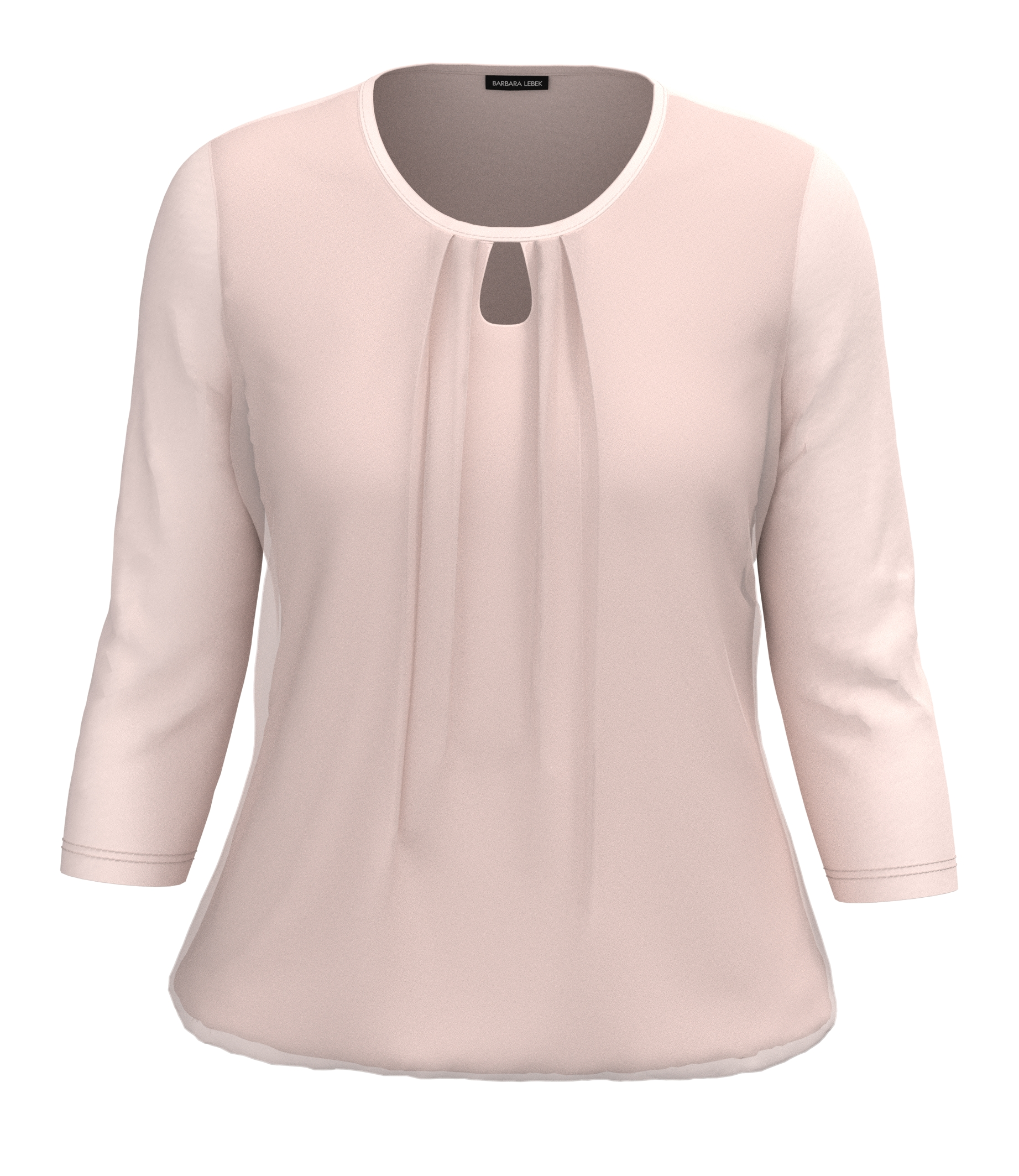 Barbara Lebek 3/4- Arm Shirt mit Schlitz am Ausschnitt rosa