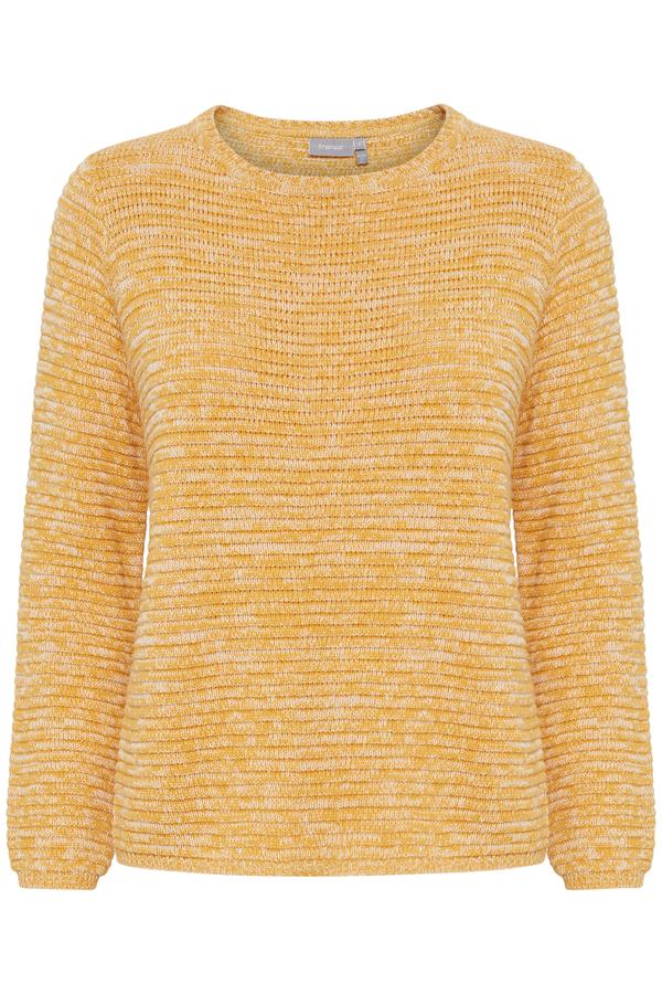 Fransa Strickpullover aus Baumwolle gelb