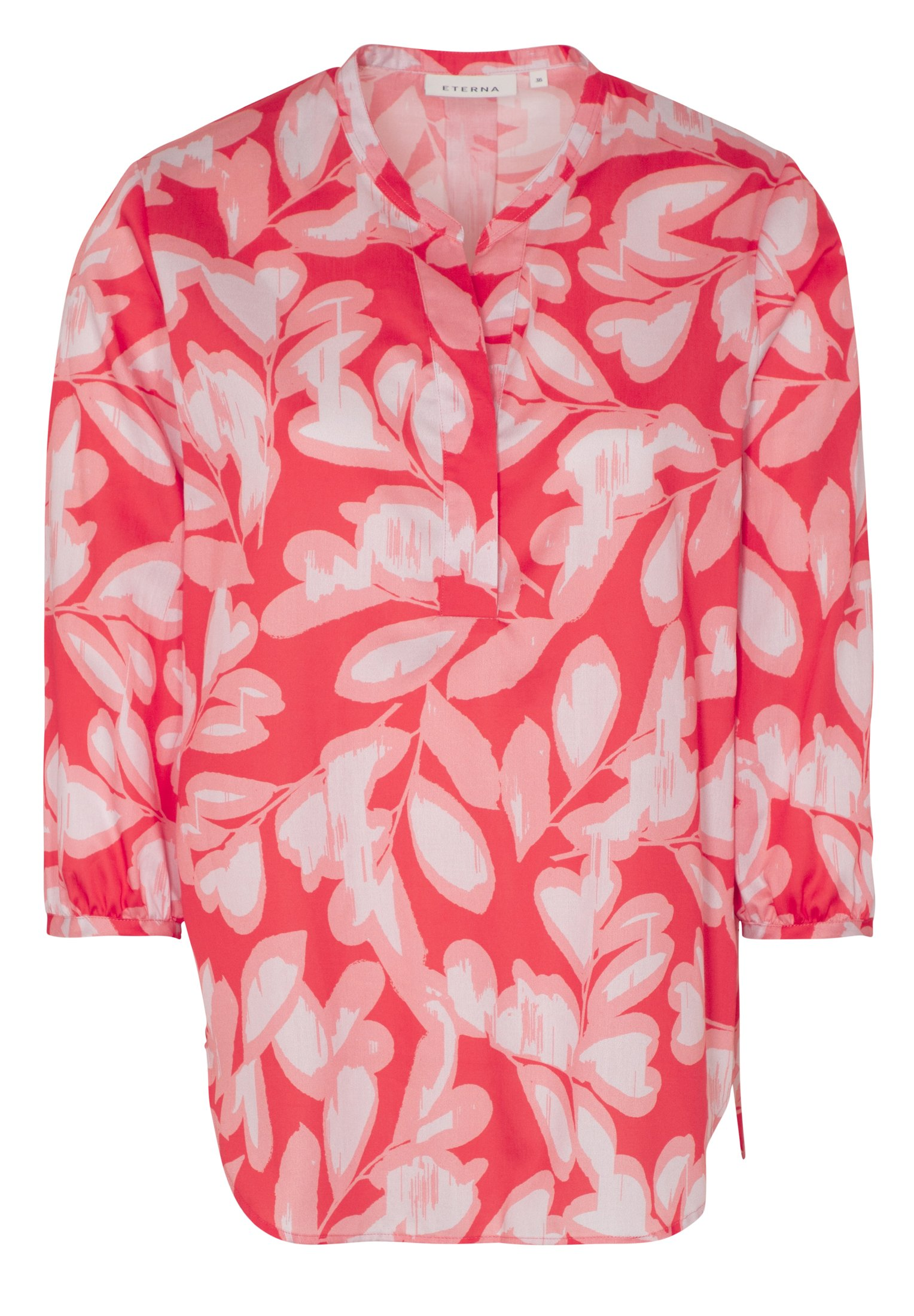 Eterna 3/4-Arm Bluse aus Baumwolle gemustert rot