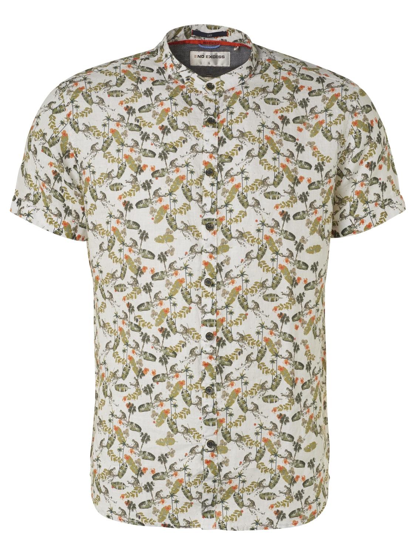 No Excess kurzarm Shirt gemustert weiß