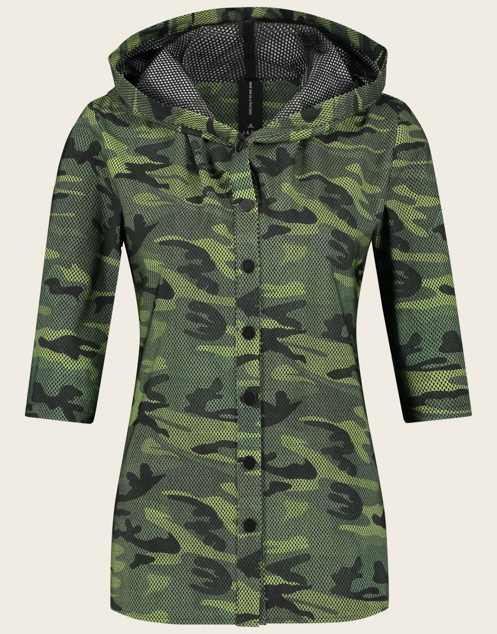Jane Lushka Bluse in Camouflage Optik grün