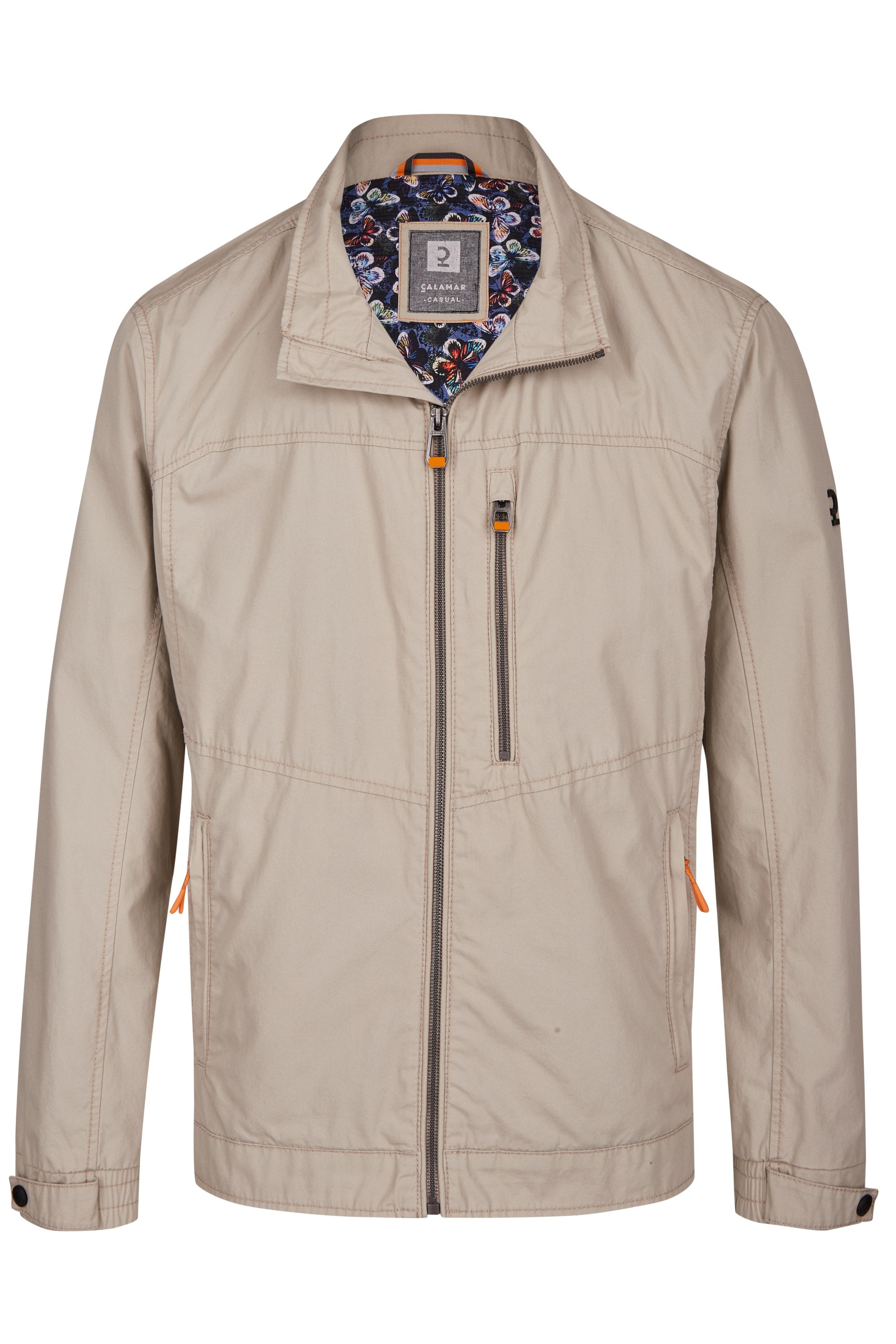 Calamar Blouson mit Zip-Tasche beige oder blau