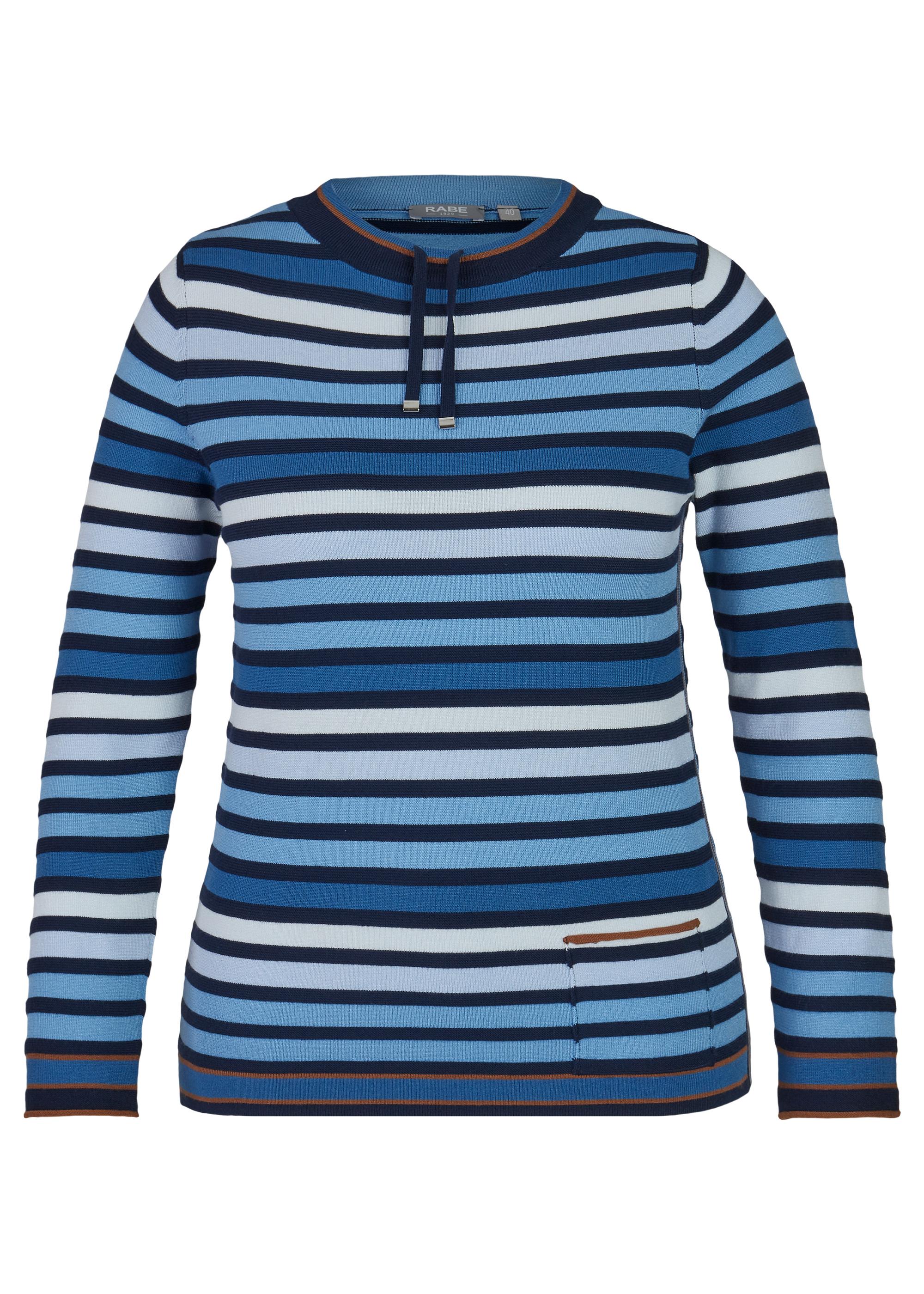 Rabe Pullover blau gestreift