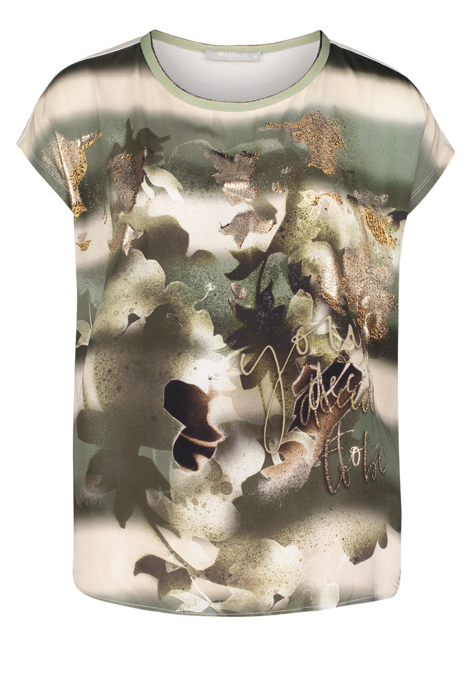 Betty & Co. kurzarm Shirt floral gemustert cream