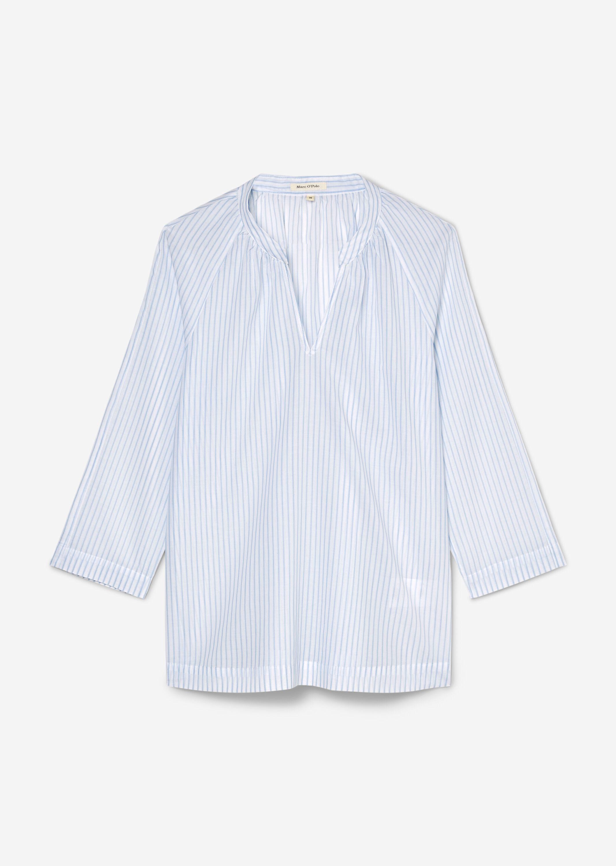 Marc O' PoloTunika-Bluse aus Baumwolle blau gestreift
