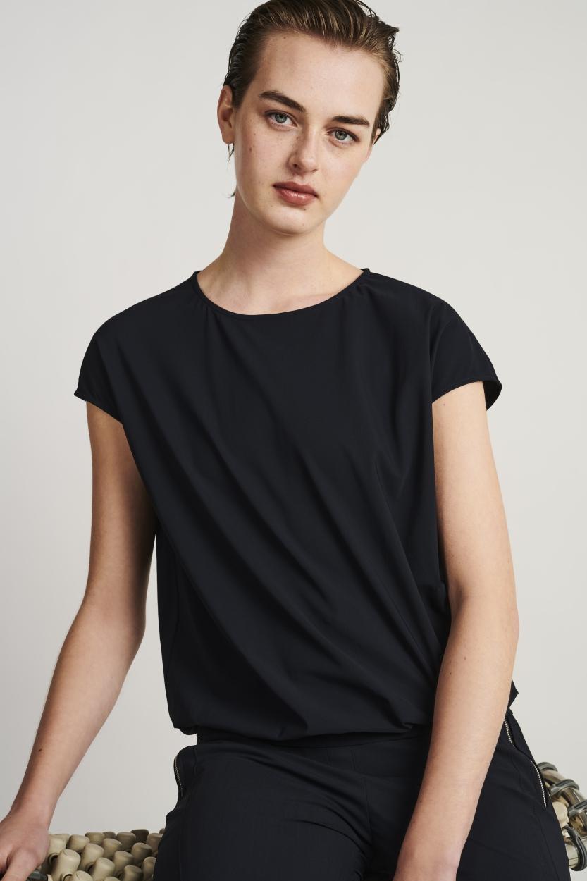 Jane Lushka kurzarm Shirt blau
