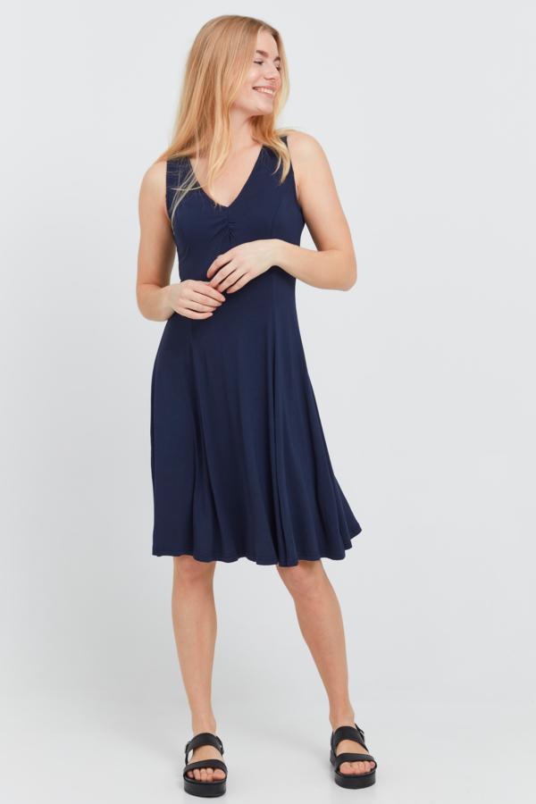 Fransa Kleid mittellang, blau