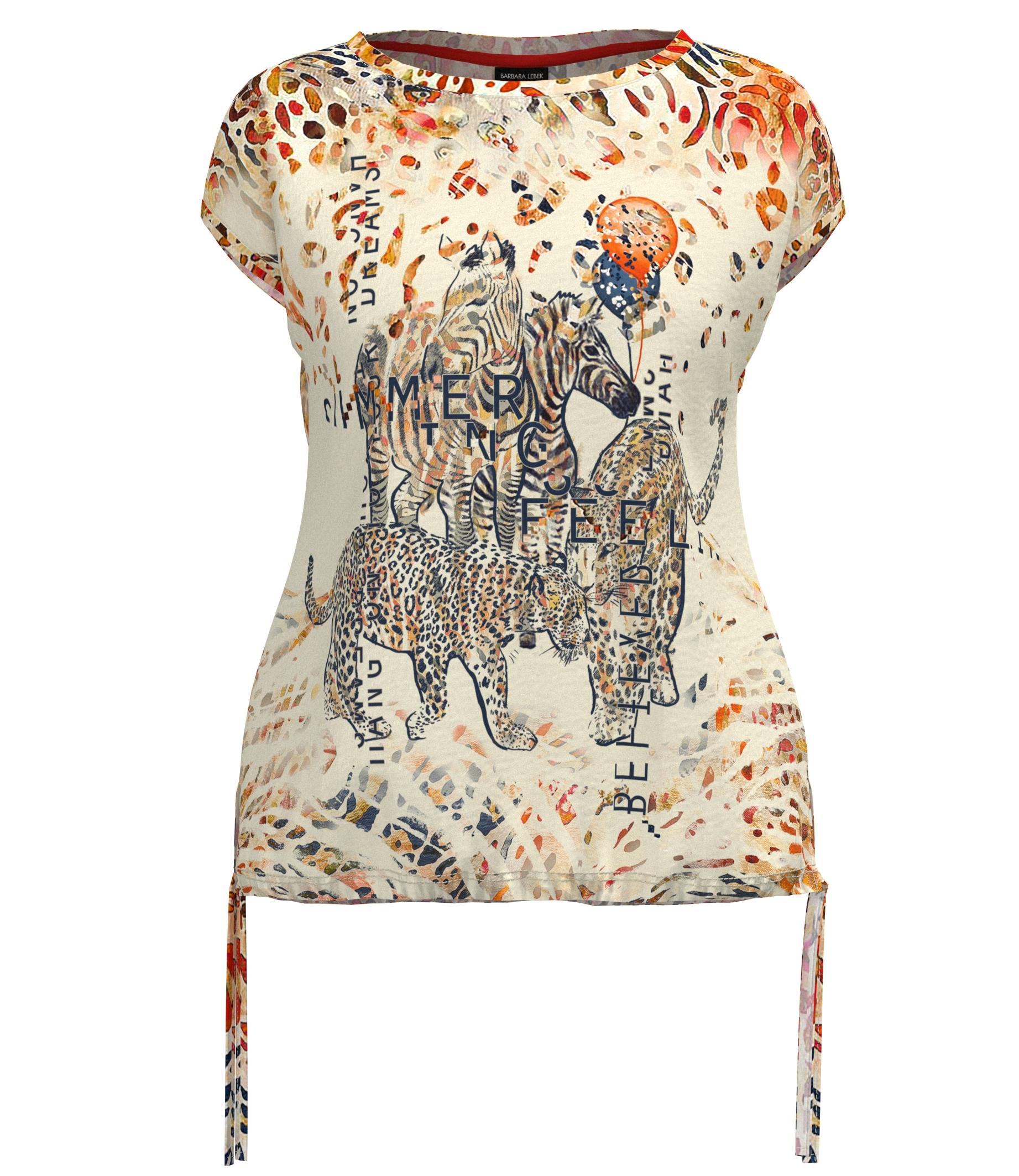 Monari kurzarm Shirt mit animal Druck orange