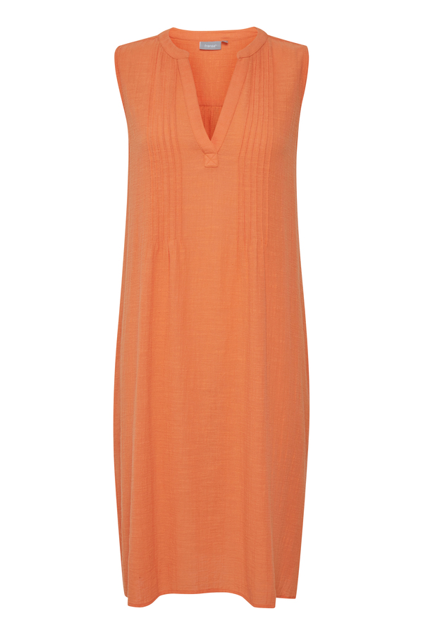 Fransa weit geschnittenes Kleid mittellang, orange